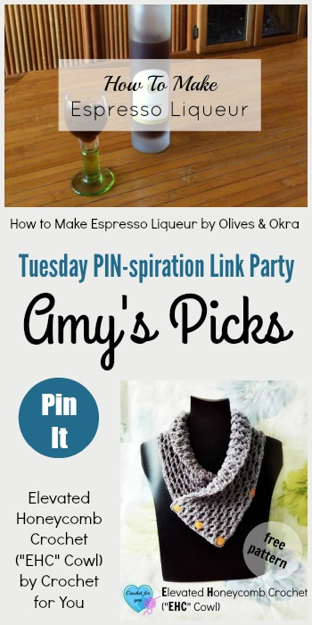 "Amy's Picks | How to Make Espresso Liqueur/Elevated Honeycomb Crochet (""EHC"" Cowl)