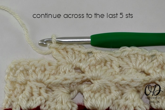 continue across to last 5 sts R2 Part 2 Wonder Crochet Blanket CAL