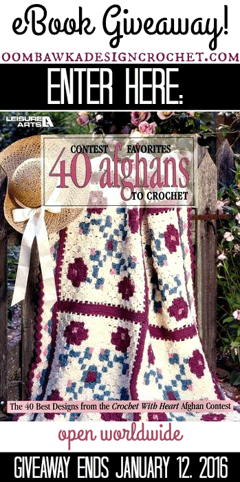 eBook Giveaway Contest Favorites 40 Afghans to Crochet ends January 12 2016