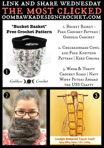 Featuring: Free Crochet Pattern for a Bucket Basket.