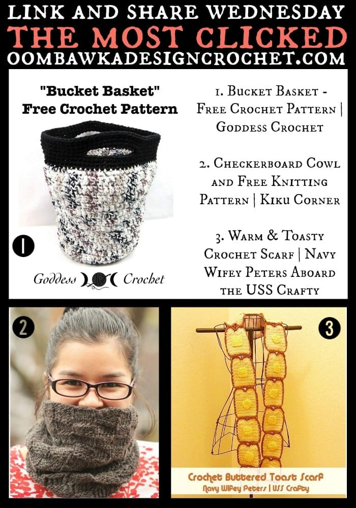 Featuring: Free Crochet Pattern for a Bucket Basket. • Oombawka ...