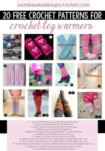 20 Free Patterns for Crochet Leg Warmers