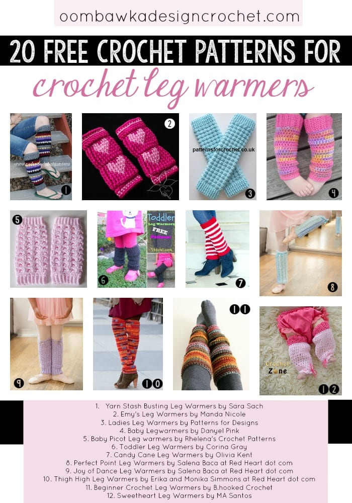 20 Free Patterns for Crochet Leg Warmers