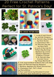 20 Free Crochet Patterns Perfect for St. Patrick's Day