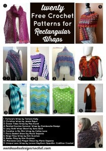 20 Free Crochet Patterns for Rectangular Wraps