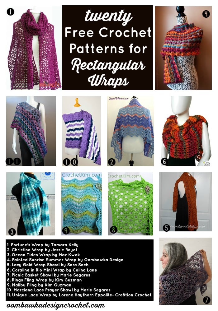 Free Pattern Friday 20 Free Crochet Patterns for Rectangular Wraps