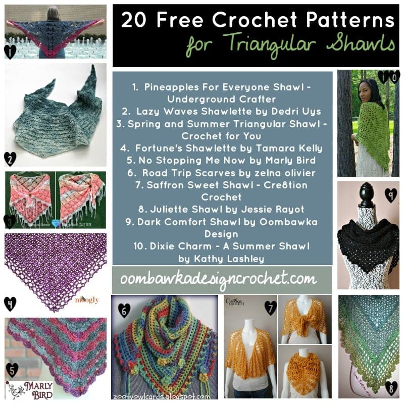 20 Free Patterns for Triangular Shawls