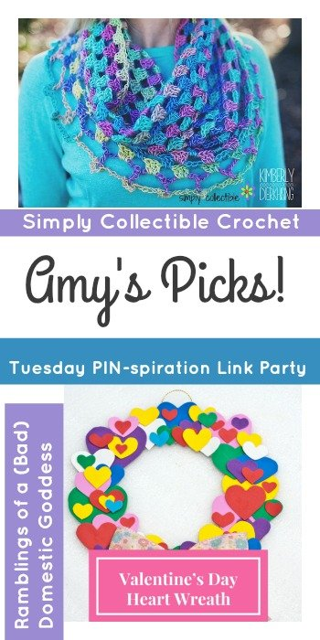 Tuesday PIN-spiration Link Party Amys Picks Simply Collectible Crochet and Articles of a Bad Domestic Goddess