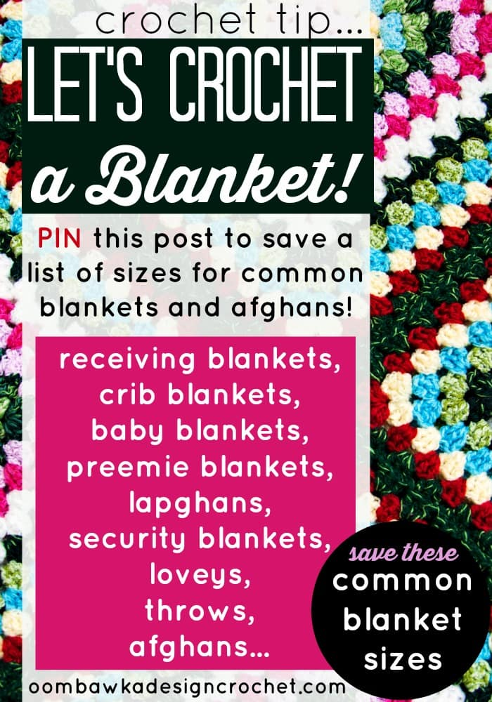 Blanket and Afghan Sizes for Crochet Tips