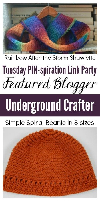 Tuesday PIN-spiration Link Party Featured Blogger - Underground Crafter | www.thestitchinmommy.com