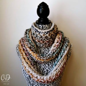 February. Elemental Infinity Scarf Pattern. Oombawka Design Crochet.