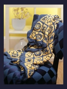 French Country Afghan - Classic Crochet Blankets Book Review