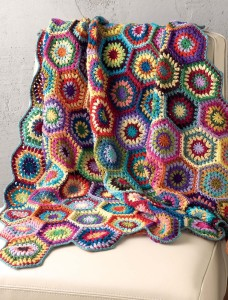 Happy Hexagons Throw - Classic Crochet Blankets Book Review
