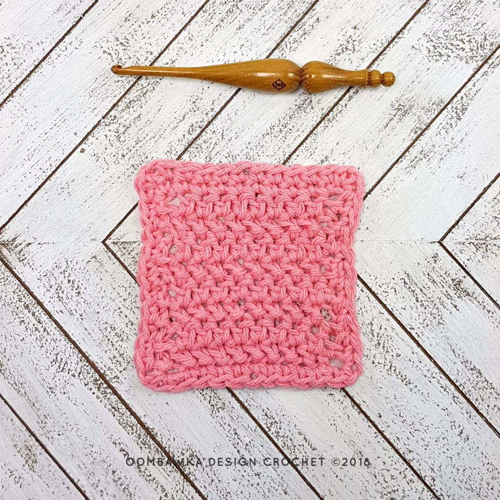 Herringbone Crochet Dishcloth - Oombawka Design Crochet