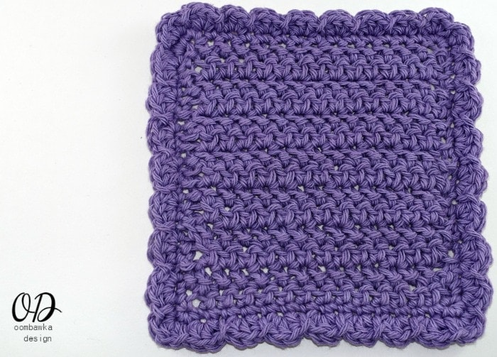 Herringbone Stitch Dishcloth