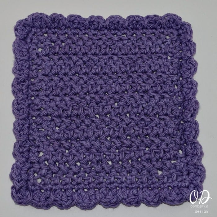 Herringbone Stitch Dishcloth Pattern