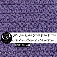 Herringbone Stitch Dishcloth | Crochet Tutorial and Free Pattern | LLANCS