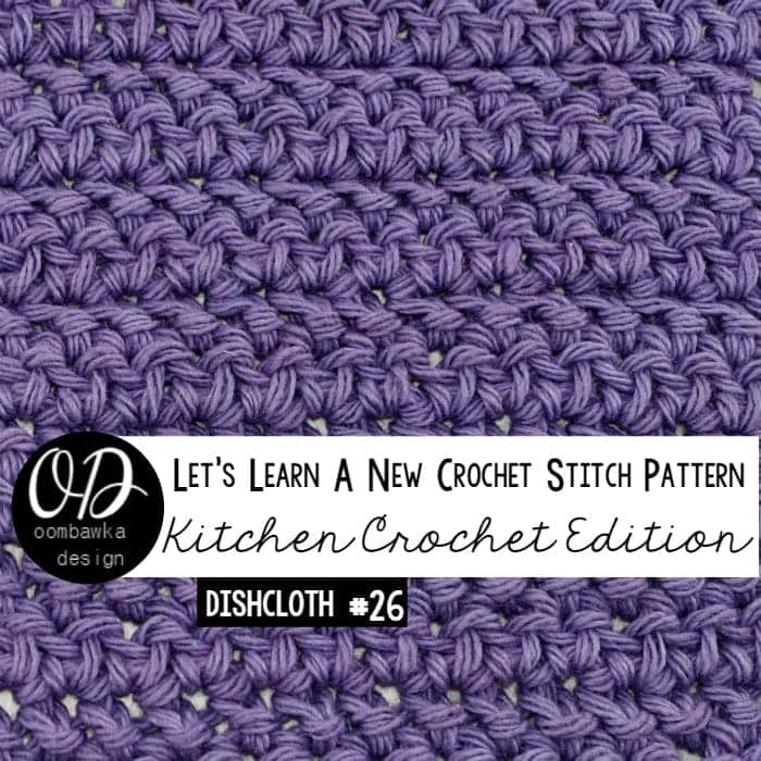 Herringbone Stitch Dishcloth Tutorial LLANCS 26