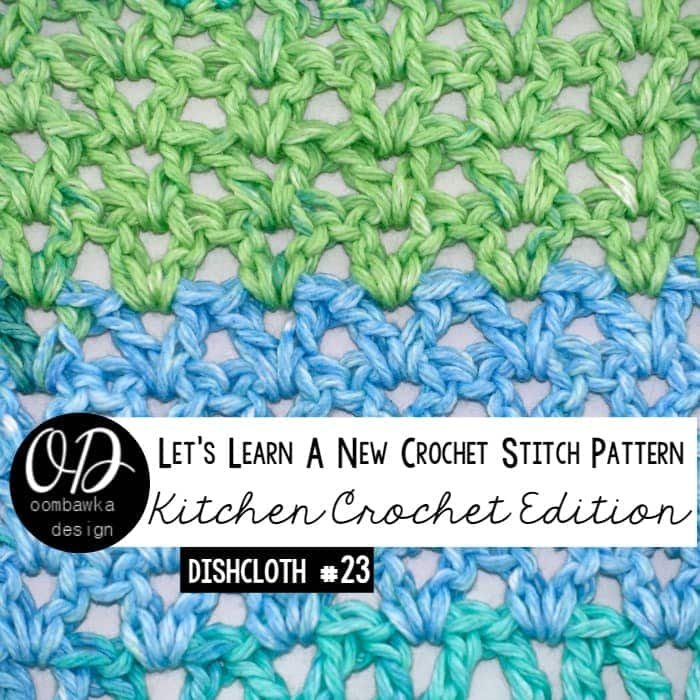 Lacy V-Stitch Dishcloth LLANCS 23