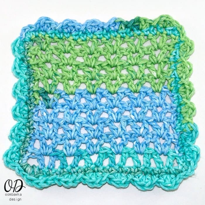 Lacy V Stitch Dishcloth