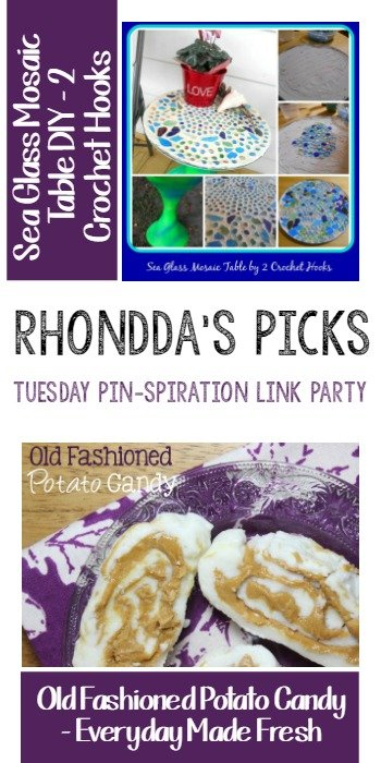 Rhonddas Picks - Tuesday PIN-spiration Link Party - 2 Crochet Hooks and Everyday Made Fresh