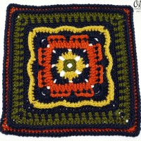 Persephone's Garden at Night – 12″ Square – Free Pattern