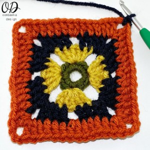 Persephone's Garden At Night Afghan Square Pattern. Oombawka Design Crochet.