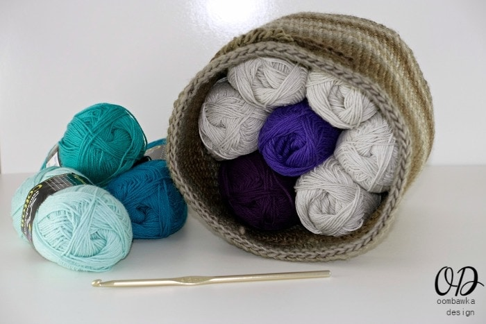 The Small Project Basket - Free Pattern - Small Project Basket