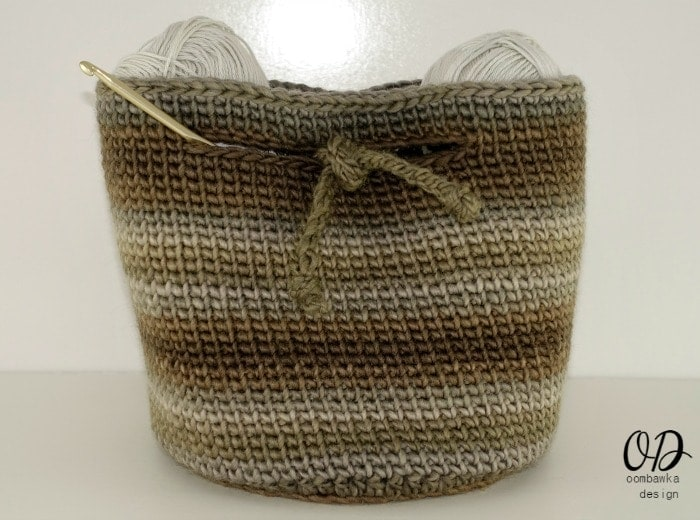The Small Project Basket - Free Pattern - as a small project bag