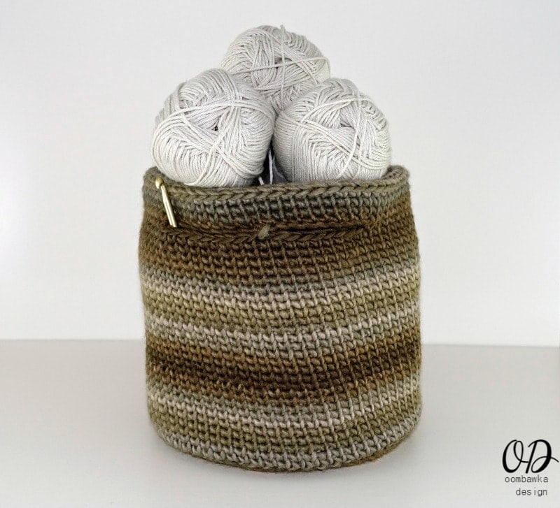 Small Crochet Project Yarn Basket - The Small Project Yarn Basket