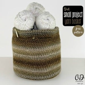 The Small Project Yarn Basket | Free Pattern