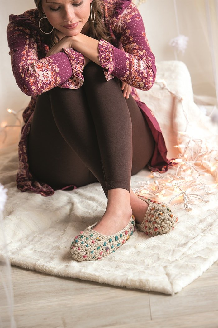 Thrummed Slippers 2 - Approved Excerpt Cold Weather Crochet