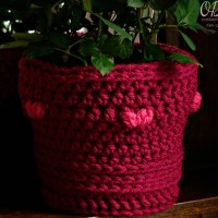 Valentine's Day Flower Pot Cover – Free Pattern