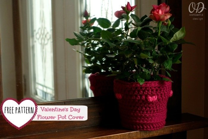 Free Pattern Valentines Day Flower Pot Cover