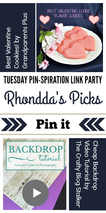 Rhondda's Picks | Best Valentine Cookies/Cheap Backdrop Video Tutorial| Tuesday PIN-spiration Link Party www.thestitchinmommy.com