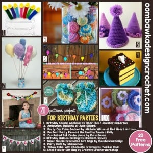 20 Free Crochet Patterns Perfect for Birthday Parties!