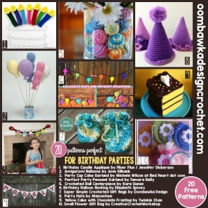20 Free Patterns Perfect for Birthday Parties and other Parties too!