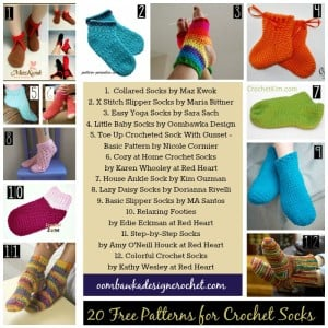 20 More Free Patterns for Crochet Socks