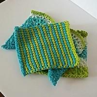 Striped Dishcloth – Tunisian Crochet – Guest Post