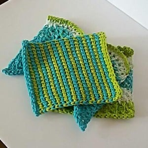 Striped Dishcloth – Tunisian Crochet – Guest Post