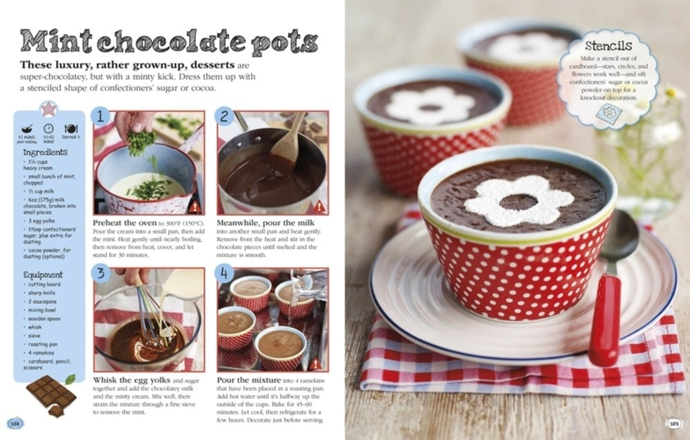 Mint Chocolate Pots - Complete Children's Cookbook Review