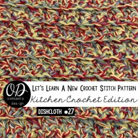 Single Crochet Cluster Stitch Dishcloth Pattern and Tutorial | LLANCS