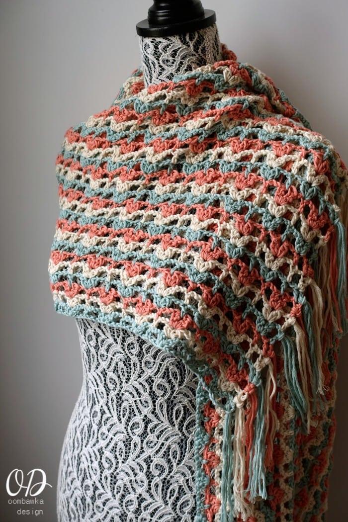 Crochet Pattern Lost In Time : Gently Reminisce Wrap - Free Crochet Pattern Oombawka ...