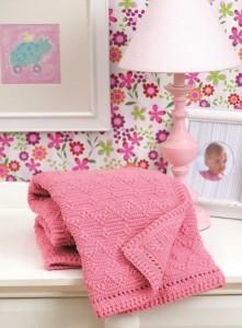 Pink Peaks - Reversible Baby Afghans Book Review Leisure Arts