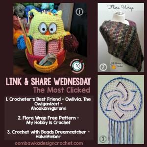 Featured: Crocheter's Best Friend Owlivia. The Owlganizer. Oombawka Design.