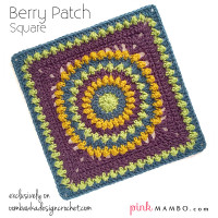 Berry Patch Square Free Pattern | Guest Contributor Post