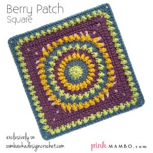 Berry Patch Square - Guest Contributor Post - Pink Mambo. Oombawka Design.