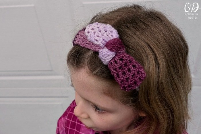 Crochet Patterns With Super Fine Yarn : Plum Dandy Simple Tied Headband ? Oombawka Design Crochet