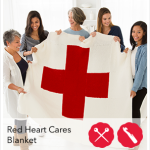 #StitchAHug Red Heart Cares Blanket