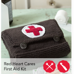 #StitchAHug Red Heart Cares first Aid Kit.
